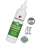 All Natural Dog Ear Cleaner - Gentle, Soothing Drops Help Prevent Itching, Mites & Infection | Premium Quality, Large 8 Oz. Size, Made & Sold in America by Brave Beagle
