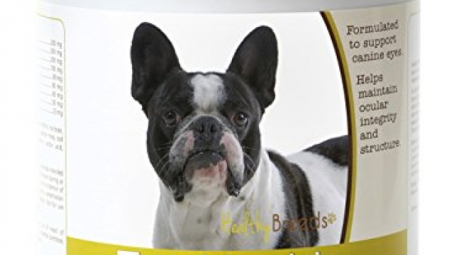 Healthy Breeds – Dog Eye Care Support for French Bulldog – Over 80 Breeds – Soft Chew Supplement – 75 Count