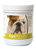 Healthy Breeds Dog Eye Care Support for Bulldog – Over 80 Breeds – Soft Chew Supplement – 75 Count