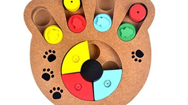 Food Treated Wooden Toy, Pet IQ Training Toy, Wood Hide & Seek Intelligence Toy, for Dogs, Cats and Other Pets (Paw Style) Reviews