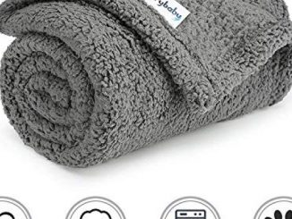"furrybaby Premium Fluffy Fleece Dog Blanket, Soft and Warm Pet Throw for Dogs & Cats (Small 24×32"", Grey) Reviews"