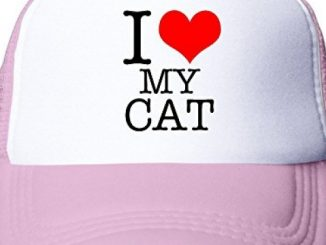 HILLR I Love My Cat Youth Mesh Snapback Hat Cap Pink