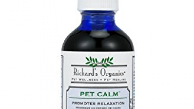 Richard's Organics Pet Calm – Naturally Relieves Stress and Anxiety in Dogs and Cats – 100% Natural, Drug-Free, Settles Nerves and Reduces Hyperactivity (4 oz. Bottle with Dropper)