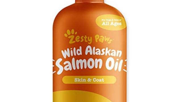 Pure Wild Alaskan Salmon Oil for Dogs & Cats – Supports Joint Function, Immune & Heart Health – Omega 3 Liquid Food Supplement for Pets – All Natural EPA + DHA Fatty Acids for Skin & Coat – 32 FL OZ