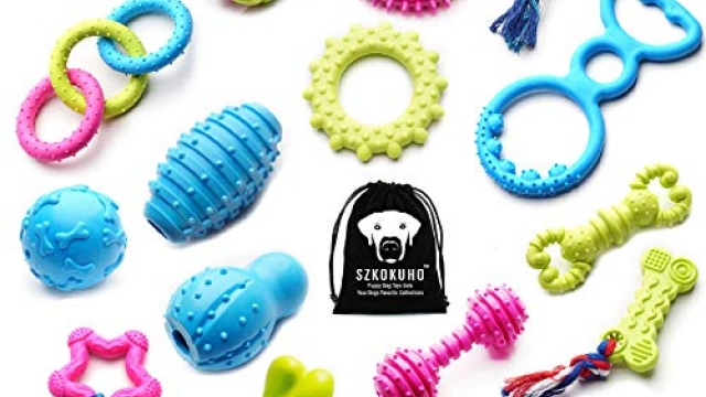 SZKOKUHO 17 Packs Durable Pet Puppy Dog Chew Toys Set Puppy Teething Ball Toys Puppy Rope Dog Tug Toy Safety Design Reviews