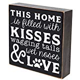 LifeSong Milestones This Home is Filled with Kissed waggin Tails Pets Gifts for Dog cat Pet Lover Gift Box Birthday Gifts for Pets 6x6 (This Home is Filled with Kisses)