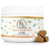 Valerio Organic Dog Hemp Chews - Dog Anxiety Relief Treat - USDA Organic Hemp Oil, Dog Calming Aid, Dog Chew, Chamomile for Joint Pain & Calming. Turkey, Duck, Chicken Flavor to Keep Your Dog Calm