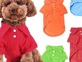 KINGMAS 4 Pack Dog Shirts Pet Puppy T-Shirt Clothes Outfit Apparel Coats Tops – Medium Reviews