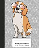 Wide Ruled Line Paper: Book Funny Beagle Dog Sunglasses (Weezag Wide Ruled Line Paper Notebook)