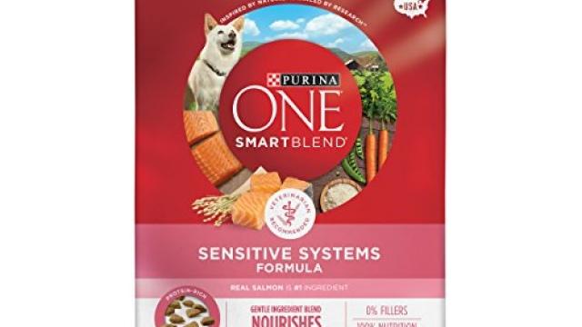 Purina ONE Natural Sensitive Stomach Dry Dog Food, SmartBlend Sensitive Systems Formula – 31.1 lb. Bag