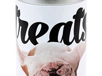 Paw Prints 37722 Carlos The Bulldog Design Large Treat Tin, 5.25″ x 5.25″ x 7.5″, One Color