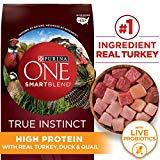 Purina ONE High Protein, Probiotics, Grain Free Dry Dog Food, Smartblend True Instinct Turkey, Duck & Quail - 24 lb. Bag