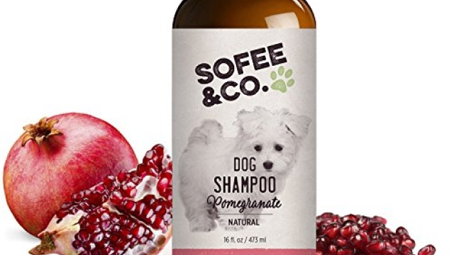 Sofee & Co. Natural Dog Puppy Shampoo Pomegranate – Clean Moisturize Deodorize Detangle Soothe Soften Normal Dry Itchy Flaky Allergy Sensitive Skin. Prevent Mattes. 16 oz