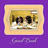 Guest Book: Puppy themed, blank lined guest register for airbnb, bed & breakfast, pet sitting, doggie day care, veterinarian notebook, etc.