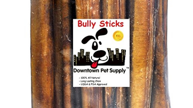 Downtown Pet Supply 6″ inch Premium All Natural Beef Bully Sticks, Jumbo Extra Thick Dog Dental Chew Treats – No Grain, High in Protein, Low in Fat (50 Pack)