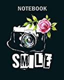 Notebook: photographer simple woman camera dog - 50 sheets, 100 pages - 8 x 10 inches