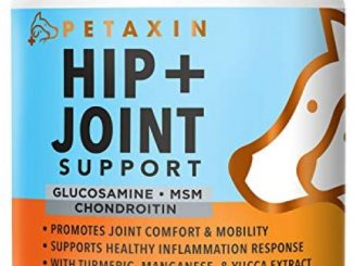 Petaxin Glucosamine for Dogs – Advanced Hip and Joint Supplement – Support for Dog Joint Pain Relief and Dog Mobility – With Chondroitin, MSM, Turmeric, & Yucca – All Ages & Sizes -120 Chews