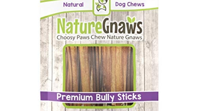 Nature Gnaws Small Bully Sticks 5-6 inch (15 Pack) – 100% Natural Grass Fed Premium Beef Dog Chews
