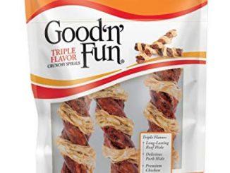 Good'n'Fun Crunchy Spirals Beef/Chicken 5 Inch – 3ct
