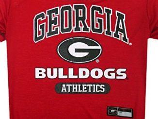NCAA Georgia Bulldogs Dog T-Shirt, Medium
