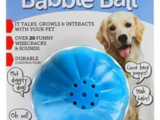 Pet Qwerks Talking Babble Ball Interactive Dog Toys – Wisecracks & Makes Funny Sounds, Electronic Talking Treat Ball That Talks & Makes Noise – Avoids Boredom & Keeps Active | for Large Dogs