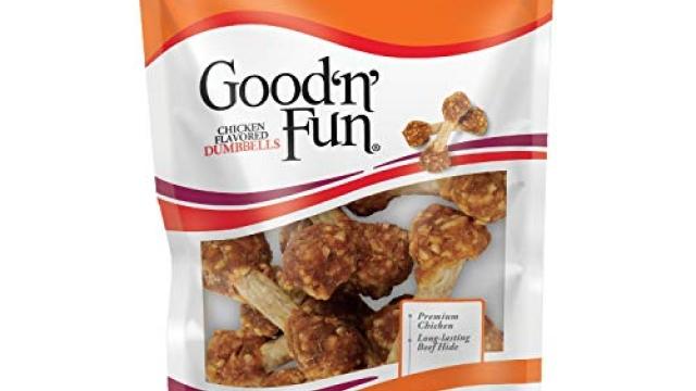Good'n'Fun Chicken Dumbbells 4 oz Reviews