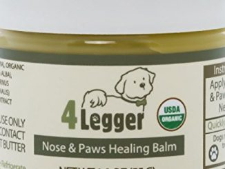 4-Legger Certified Organic Nose and Paw Pad Healing Balm for Dry Chapped Cracked Skin with Hemp Oil and Shea Butter – Made in USA – 1 each – 1.9 oz