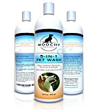 Moochy Dog Complete Shampoo And Conditioner - Complete 5-in-1 Pet Wash - Cleans, Conditions, Deodorizes, Moisturizes & Detangles - All Natural Formula And Eco Friendly, Ideal For Sensitive Dog Skin