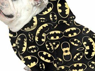 English Bulldog Dog Sweatshirt Bigger Than Beefy (56 to 80 Pounds) Batman