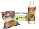 Pet Cleaning Bundle Includes Oatmeal Pet Wash Shampoo and Daily Wipes For Face, Skin, Ears, Feet, and Tushie Includes Treats To Reward Your Pet