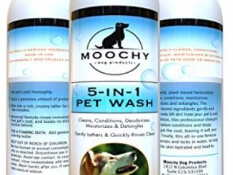 Moochy Dog Complete Shampoo And Conditioner – Complete 5-in-1 Pet Wash – Cleans, Conditions, Deodorizes, Moisturizes & Detangles – All Natural Formula And Eco Friendly, Ideal For Sensitive Dog Skin Reviews