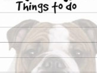 """""""Bulldog Magnetic List Pads"""" Uniquely Shaped Sticky Notepad Measures 8.5 by 3.5 Inches Reviews"""