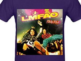 Lmfao Party Rock Funk Album Cover Mens Crew Neck Short Sleeve T Shirt Purple