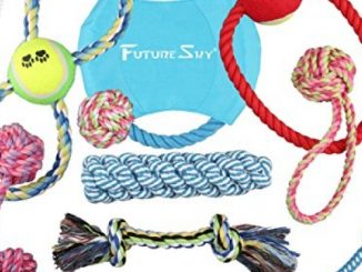 Futuresky Pubby Dog Toys 10 Pack Gift Set Ball Rope and Chew Squeaky Toys Variety Pet Puppies Toys set for Small and Medium Doggie