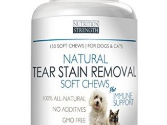 Natural Tear Stain Removal for Dogs and Cats Nutrition Strength, 150 Soft Chews