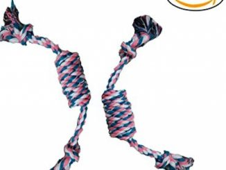 Itplus 2 Pack Cotton Rope Chew Toy Knot Rope Puppy Dog Tug Toys for Chewing Tugging Playing,16 Inch