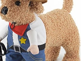 Mikayoo Christmas costumes,The Cowboy for Party Christmas Special Events Costume,West CowBoy Uniform with Hat,Funny Pet Cowboy Outfit Clothing for dog cat(4)