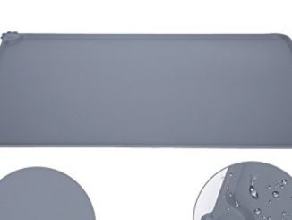 Medium Dog Food Mat – FDA Approved Silicone, OUMAL Waterproof Non-Skid Bowl Mat Reviews