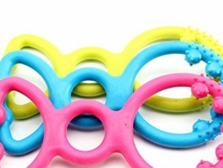 BECKY,Set of Bite Rings Toy For Dogs Puppies,Set Dog Toys Dog Chew Toy for Aggressive Chewers for Small Medium Dogs Breeds Dogs Puppies – Natural Rubber,Random Color