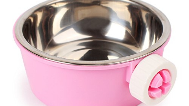 iChoue Removable and Adjustable Hanging Pet Bowl Animal Water Food Bowl for Cage Carrier – Pink Reviews