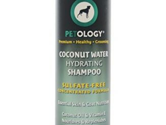 Petology Natural Coconut Dog Shampoo – Hydrating Dog Shampoo For Dry Skin – Coconut Oil & Vitamin E Nourishes & Replenishes – Sulfate-Free Concentrated Formula – 13.5 oz