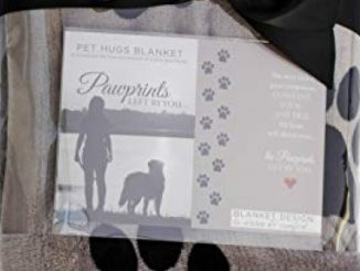 Pawprints Left by You Pet Memorial Blanket with Heartfelt Sentiment – Comforting Pet Loss/Pet Bereavement Gift