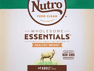 NUTRO WHOLESOME ESSENTIALS Natural Healthy Weight Adult Dry Dog Food Pasture-Fed Lamb & Rice Recipe, 30 lb. Bag