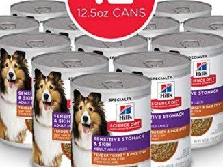 Hill's Science Diet Wet Dog Food, Adult, Sensitive Stomach & Skin, Tender Turkey & Rice Stew, 12.5 oz, 12-pack
