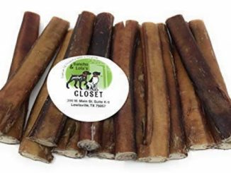 Sancho & Lola's 6″ Thick Bully Sticks for Dogs Made in USA~20oz (14-17) Grain-Free Pizzle Dog Chews