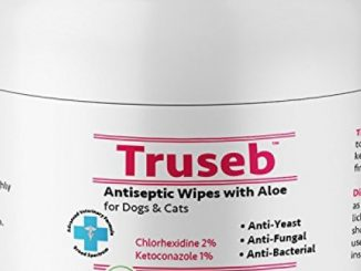 Truseb All Natural Anti Itch Oatmeal Spray Or Shampoo with Baking Soda for Dogs and Cats,Hypoallergenic Relief for Dry, Itchy, Bitten or Allergy Damaged Skin,Hot Spot (Chlorhexidine 50 Wipes) Reviews