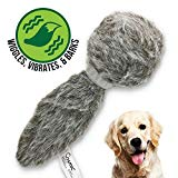 Hyper Pet Doggie Tail Interactive Plush Dog Toys (Wiggles, Vibrates, and Barks - Dog Toys for Boredom and Stimulating Play)